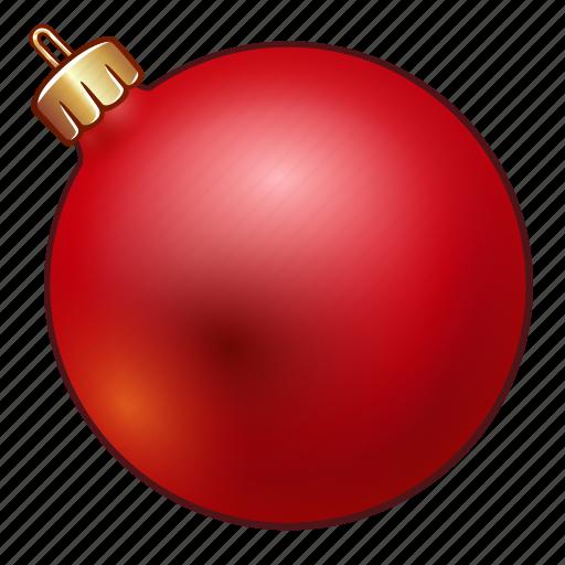 ball, celebration, christmas, decoration, holiday, new year, ornament, red, xmas icon