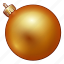 ball, celebration, christmas, decoration, golden, holiday, new year, ornament, xmas icon
