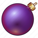 ball, celebration, christmas, decoration, holiday, new year, ornament, purple, violet, xmas icon