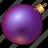 ball, celebration, christmas, decoration, holiday, new year, ornament, purple, violet, xmas icon