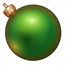 ball, celebration, christmas, decoration, green, holiday, new year icon