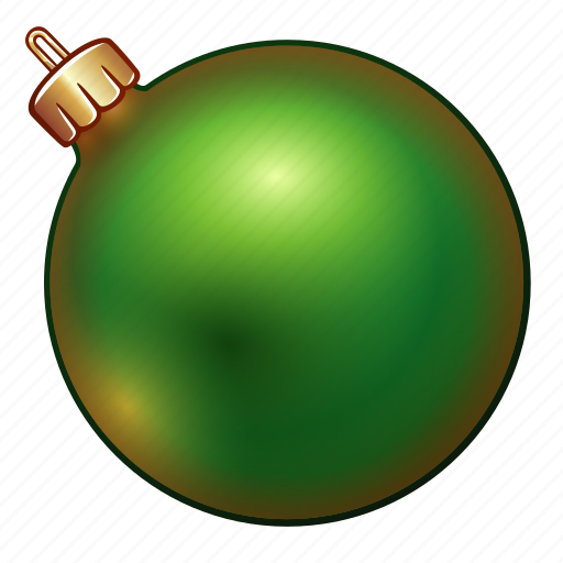 ball, celebration, christmas, decoration, green, holiday, new year, ornament, xmas icon