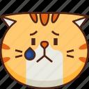 cute, cat, emoticon, upset, smileys, avatar, emoji