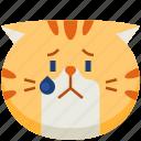 cute, emoticon, avatar, upset, smileys, cat, emoji