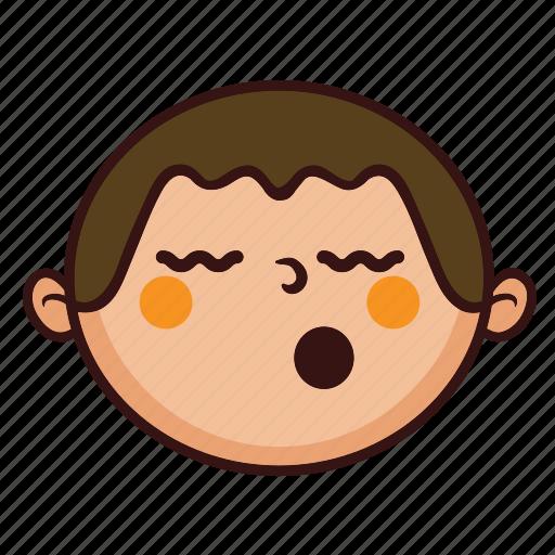 boy, chubby, cute, fat, kid, sleep, smile icon