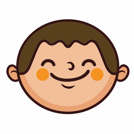 boy, chubby, cute, fat, kid, smile icon