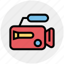 camera, cinema, entertainment, film, movie, video, video camera icon
