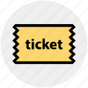 cinema, cinema ticket, concert, movie, raffle, theater, ticket icon