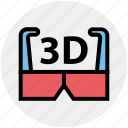 3d, 3d glasses, cinema, entertainment, film, goggles, movie