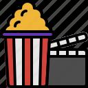 cinema, film, entertainment, corn, movie, popcorn, food