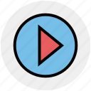 audio, cinema, music, play, player, video icon