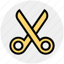 crop, cut, cutting, edit, scissors, split, trim icon