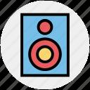 audio, cinema, entertainment, loud, sound, speaker, woofer icon