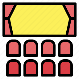 cinema, meeting, movie, room, viewing icon