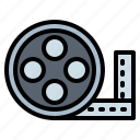 cinema, film, filming, reel icon