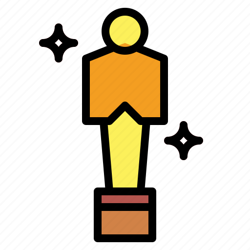 academy, award, oscar, trophy icon