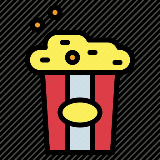 cinema, fast, food, popcorn, salty, snack icon