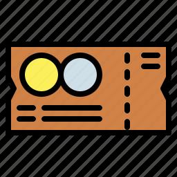 entertainment, pass, show, ticket icon