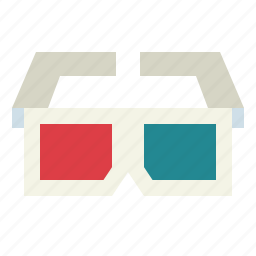 cinema, glasses, movie icon