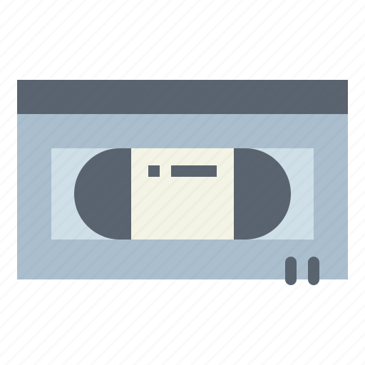 entertainment, recording, tape, vhs icon