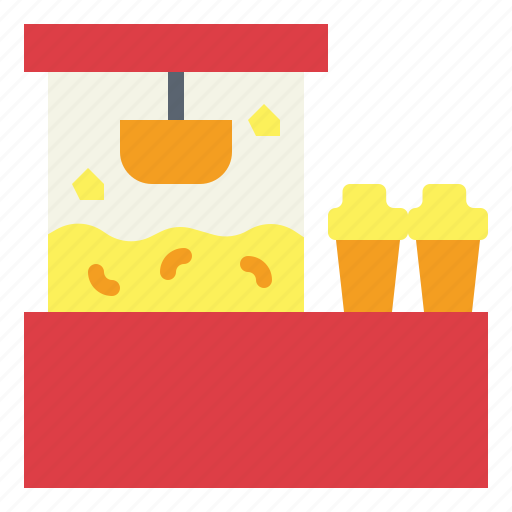 cinema, popcorn, shop, snack icon