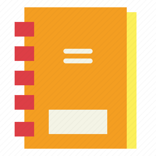 education, notebook, script, story icon