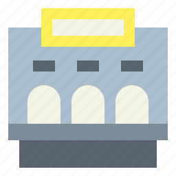 cinema, entertainment, theater, ticket, window icon