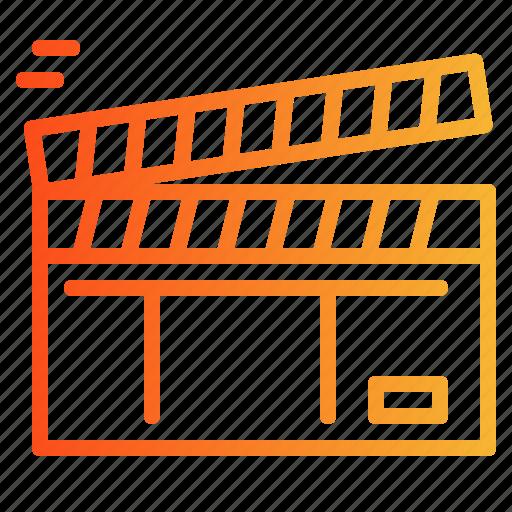 cinema, clapperboard, film, movie icon
