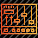 audio, controls, levels, mixer, music icon