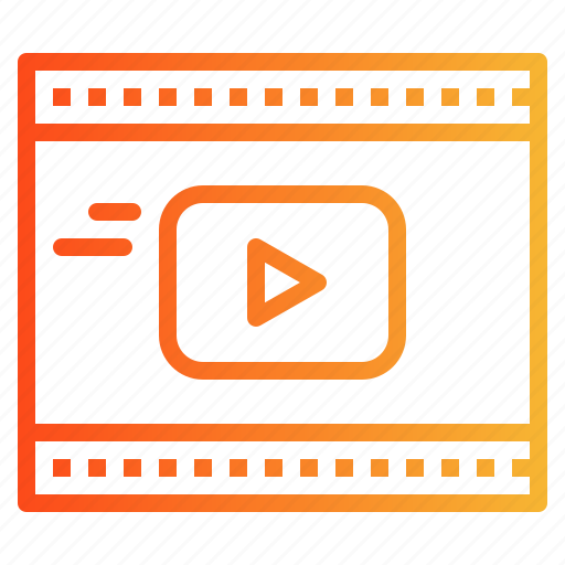 movie, play, player, video icon