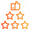 like, rate, rating, review, stars, testimonial icon