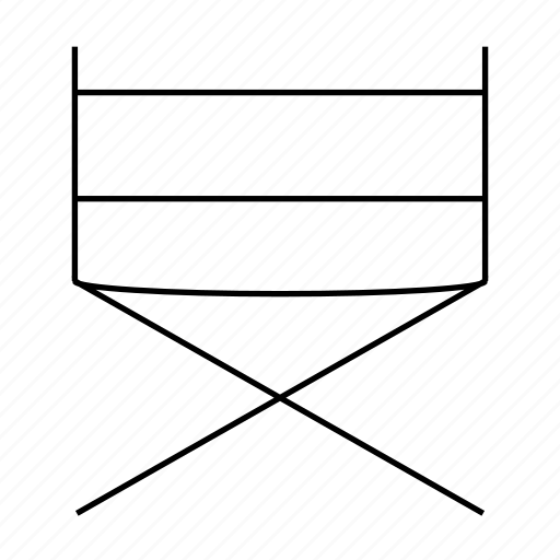 chair, cinema, director, folder, rest, sit, video icon