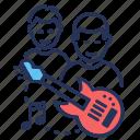 boyband, guitar, male, music icon