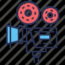 camera, film reel, filming, filmmaking icon