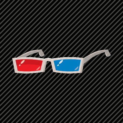 cartoon, cinema, entertainment, film, glass, glasses, technology icon