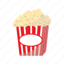 cartoon, crispy, eat, food, fried, golden, popcorn icon
