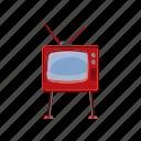 antenna, cartoon, retro, screen, television, tv, video icon
