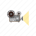 cartoon, media, movie, multimedia, projector, retro, technology icon