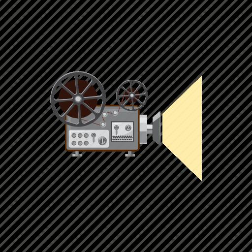 cartoon, media, movie, multimedia, projector, retro, technology icon