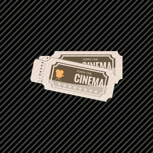 cartoon, cinema, entertainment, film, movie, theater, ticket icon