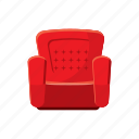 armchair, cartoon, comfortable, furniture, home, interior, sofa icon