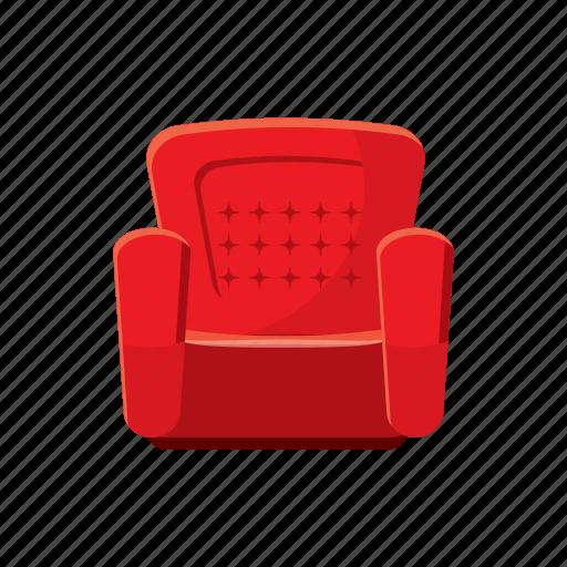 armchair, cartoon, comfortable, furniture, home, interior, sofa icon
