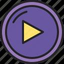 play, music, video, movie