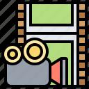 camera, film, movie, photogram, strip