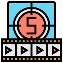 cinematography, filmstrip, frames, motion, movie icon
