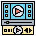 application, media, movie, player, video icon