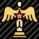 award, statue, prize, winner, trophy icon