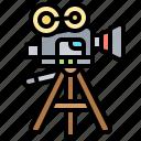 camera, cinematography, filming, movie, vintage icon