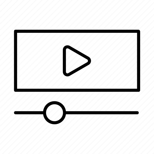 player, stream, video icon