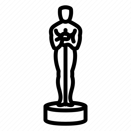award, cinema, film, gold, movie, oscar, statuette icon